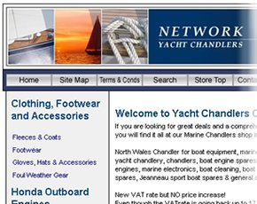 Network Yacht Chandlers – North Wales based Online Retailer – eCommerce Shop