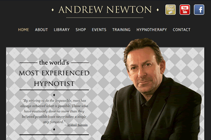 Website for the 'World's most Experienced Hypnotist'