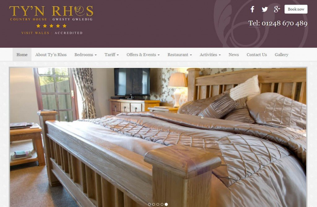 Tyn Rhos Snowdonia Hotel New Website