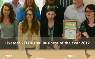 Conwy Business Awards 2017 – Livetech Team Success