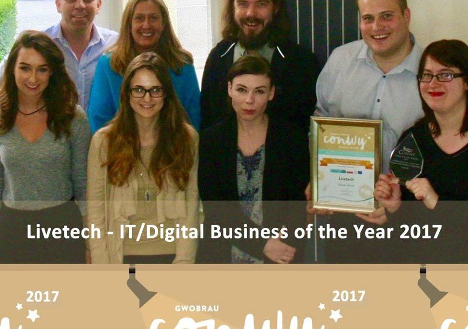 Conwy Business Awards 2017 – Livetech Team Success