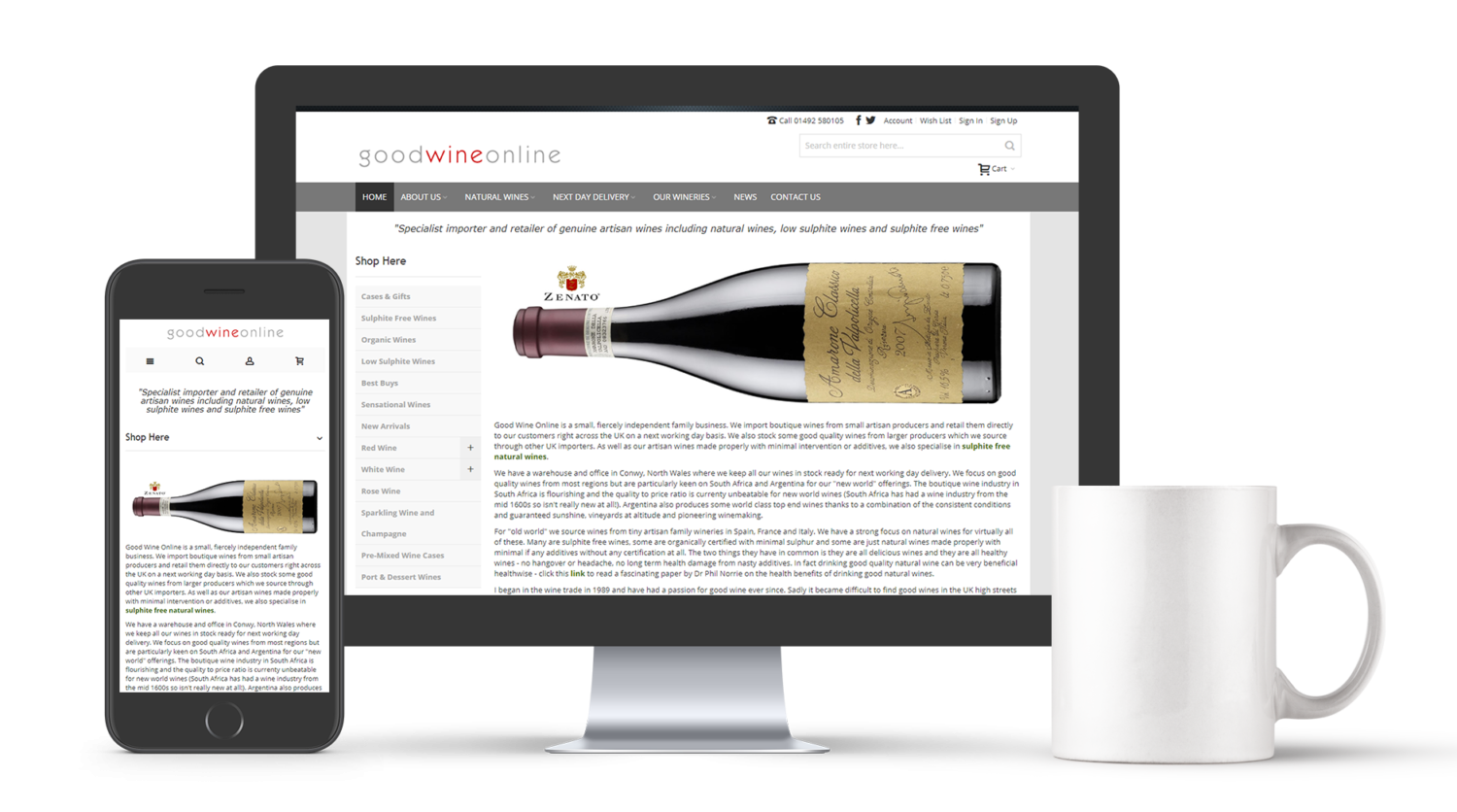Good Wine Online Mock Ups