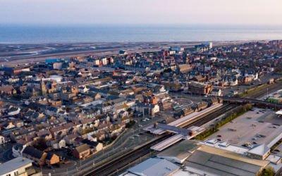 Aerial Photography work for Twinfix, Llandudno and Rhyl Train Station